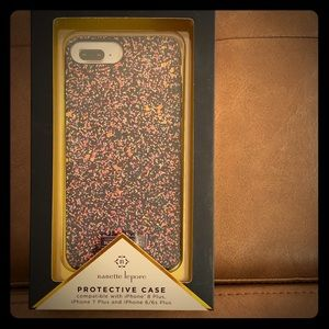 nanette lepore Multi color Glitter iPhone case